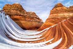 Snow covered wave taken during cold in Coyote Buttes North. via @AOL_Lifestyle Read more: http://www.aol.com/article/2016/07/03/alien-hunter-claims-google-earth-shows-a-giant-pyramid-on-ocean/21423576/?a_dgi=aolshare_pinterest#fullscreen