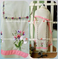 Best embroidery designs for suits clothing 51 ideas Embroidery Suits Punjabi, Embroidery On Kurtis, Kurti Embroidery Design, Shirt Embroidery, Embroidery Fashion, Hand Embroidery Designs, Boutique Suits, Fashion Boutique, Designer Punjabi Suits