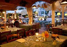 Villa Verde on Capri. Where else can you eat pizza outside and run into Mariah Carey?