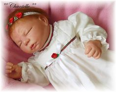 Reborn Baby girl Chantelle...Teddy kit by Secrist...4lbs & 2oz's..20 inches..rooted hair..Created by me..2007...