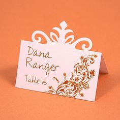 This Pinnovation die makes it so easy to create the perfect escort card without having to hand write it.