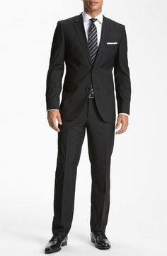 BOSS HUGO BOSS 'Jam/Sharp' Trim Fit Wool Suit available at #Nordstrom  maybe buy next month for G