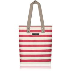 nother Horizontal Stripe Tote Bag (Red)