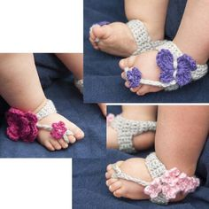 3c5f6720466159 Bouquet Barefoot Sandals Free Download Crochet Baby Sandals