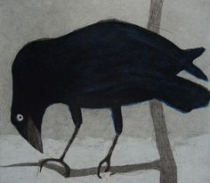 Nora Reid crow etching.  http://www.mylittletowndesign.co.uk/index.html