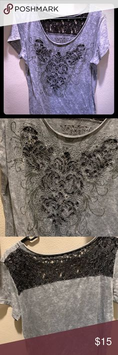 f16b74448a8 Maurice s plus size 0 shirt with lace backing Maurice s plus size 0 shirt  with rhinestones and