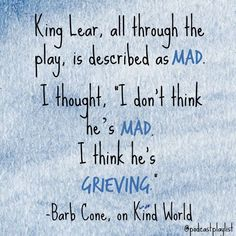 Shakespeare Quote, King Lear Quote