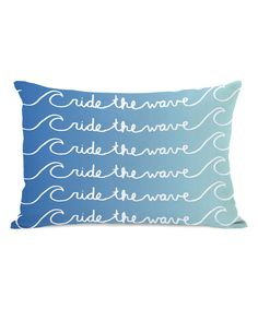 'Ride the Wave' Throw Pillow
