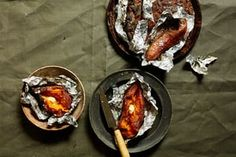 Veggie bonfire night BBQ recipes: celeriac steaks and baked sweet potatoes | The Modern Cook | Life and style | The Guardian