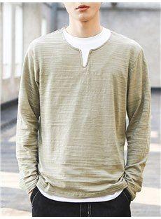 Tシャツ多色重ね着デザイン長袖メンズTシャツ