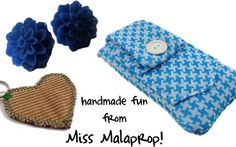 You could win these handmade goodies from Miss Malaprop during the Fall Fashionista Event October 11-17!  Mark your calendars and get all the details here: http://www.missmalaprop.com/2012/09/fashionista-events-fall-giveaway-2012-coming-soon-october-11-17th/