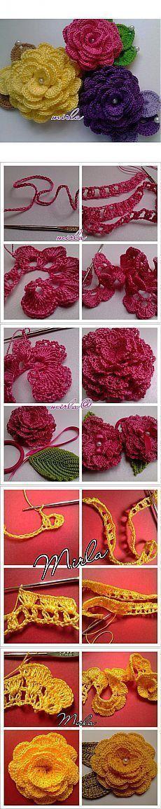 Watch The Video Splendid Crochet a Puff Flower Ideas. Phenomenal Crochet a Puff Flower Ideas. Beau Crochet, Mode Crochet, Crochet Diy, Thread Crochet, Crochet Motif, Irish Crochet, Crochet Crafts, Crochet Stitches, Crochet Projects