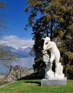 Gardens of Villa Melzi, Bellagio, Lake Como, Lombardy, Italy