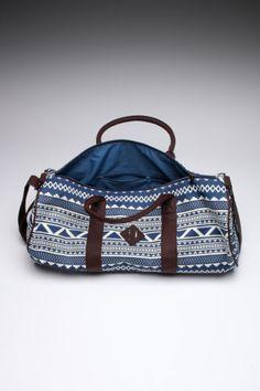 Alberta Barrel Bag- Love the pattern!