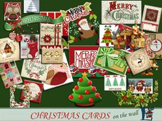 The previous Christmas cards decorate the house festive. A set of Found in TSR Category 'Sims 4 Decorative Recolor Sets' Christmas Decorations, Christmas Ornaments, Holiday Decor, Sims 4 Controls, Chrismas Cards, Sims 4 Build, Sims 4 Game, Sims 4 Update, Sims Resource