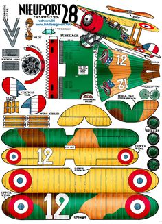 Nieuport 28 : Instruction http://www.fiddlersgreen.net/models/aircraft/Nieuport-28.html