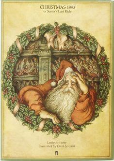 December John Shelley chooses Christmas 1993 or Santa's Last Ride by Leslie Bricusse & Errol Le Cain Children's Book Illustration, Childrens Books, Illustrators, Snug, Childhood, Calendar 2017, Advent Calendar, Christmas, Xmas
