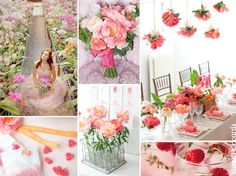 Pink wedding inspiration board
