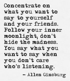 Concentrate on what you want to say to yourself... #quotes #authors #writers