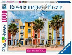 Puzzle Ravensburger Mediterranean Spain 1000 pz Jigsaw Puzzle, Puzzles 3d, Wooden Puzzles, Cute Kittens, Numero D Art, Aqua Doodle, Escape Puzzle, Malta, Color By Numbers
