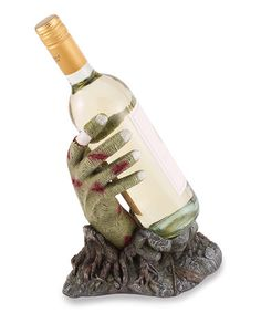 Create a frightful ambiance at your Halloween Party with this totally spooky Zombie Hand Wine Holder. This zombie wants to steal your wine. while lending a helping hand. Zombie Wedding, Wild Eyes, Horror, Take My Money, Wine Bottle Holders, A Boutique, The Ordinary, Hands, Gifts