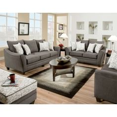 Flannel Seal Living Room Group