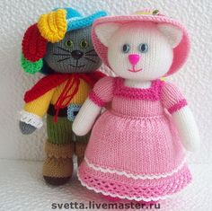 """GlaMURRRnaya kitty"" knitted toy by Svetlana Zabelina original pattern by Jean Greenhowe"