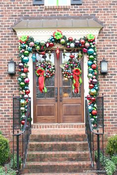 holiday home tour, christmas decorations, seasonal holiday d cor, The most beautifully decorated front door holidaycheer Christmas Front Doors, Christmas Porch, Christmas Mantels, Outdoor Christmas, All Things Christmas, Winter Christmas, Christmas Wreaths, Christmas Decorations, Merry Christmas