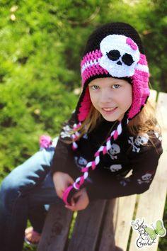 8821083fb9729 Crochet Hat - with Skull - Newborn