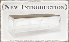 Introducing Zentique's newest arrivals! Bring in the new year with style.  #zentique #newintroduction #newarrivals #transitionalfurniture #acrylicfurniture #coffeetable