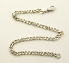 Antique Hallmarked Sterling Silver Pocket Watch Chain - The Collectors Bag