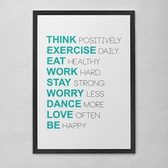 Poster ou Tela MDF - Positive Thoughts