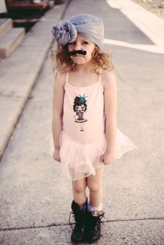 KID: Love this carnival tutu with the bearded lady by Salt City Emporium