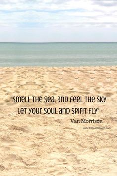 Smell the sea and feel the sky. let your soul fly. -Van Morrison Quote #quote #quotes #quoteoftheday