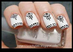 Easy witha dotting tool :)