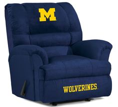 Use this Exclusive coupon code: PINFIVE to receive an additional 5% off the University of Michigan Big Daddy Recliner at sportsfansplus.com