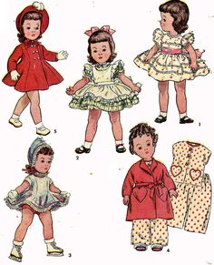 Vintage muñeca ropa patrón 3728 de 21 pulgadas Toni Shirley Temple Mary Heartline por Ideal