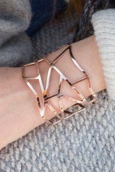Edelstahl Armreif rosé vergoldet Anna, Bracelets, Gold, Jewelry, Bangle, Neck Chain, Gemstone Earrings, Stainless Steel, Armband
