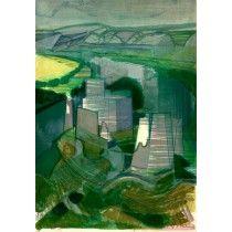 """HILAIRE Camille - Lithographie Originale """"La Normandie, Gaillard"""" 53x37cm"""