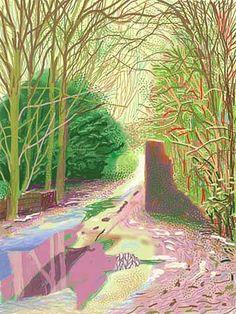 iPad drawing by David Hockney, great living Britis painter. I love it.