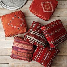 Shop pouf from west elm. Find a wide selection of furniture and decor options that will suit your tastes, including a variety of pouf. Moroccan Floor Pillows, Moroccan Decor, Moroccan Style, Kilim Pillows, Accent Pillows, Moroccan Print, Moroccan Pouf, Modern Moroccan, Moroccan Interiors