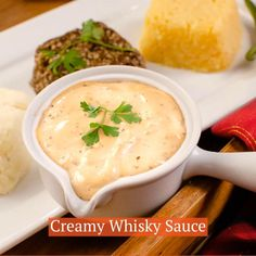 How to make a delicious creamy whisky sauce, perfect for pouring over Steak, Chicken, Vegetables or as a pasta sauce. Traditionally served with Haggis, Neeps and Tatties on Burns Night. This Whisky Cream Sauce recipe is so easy to prepare, we give you a step by step for how to make this sauce with flambé whisky, double cream, wholegrain mustard and stock cube. Can be adjusted to your desired thickness, prepare fresh or in advance and reheat.