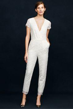 So not getting married anytime soon but quite like thus jumpsuit via J.Crew Wedding Dresses 2014 collection