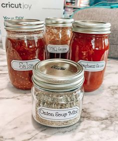 3 Little Things To Make With Cricut Joy Spice Labels, Pantry Labels, Low Carb Bbq Sauce, Onion Soup Mix, Soup Mixes, Food Staples, Enchilada Sauce, Spaghetti Sauce, Little Things
