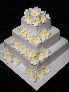 Frangipani Wedding Cake By Mumma