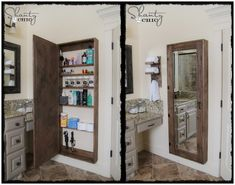 How to Make a Bathroom Mirror Storage Cabinet
