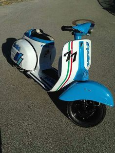 Vespa blue lagoon Lambretta Scooter, Scooter Motorcycle, Vespa Scooters, Vespa 200, Honda, Italian Scooter, Scooter Custom, Yamaha Bikes, Best Scooter