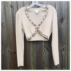 Embellished Cardigan Short body, long sleeve. Good condition LOFT Sweaters Cardigans