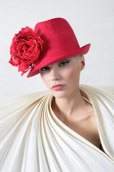 Galleries of haute couture and ready to wear hat collections and handbags. Philip Treacy Hats, Types Of Hats, Red Hat Society, Lady In Waiting, Fancy Hats, Glamour, Love Hat, Pink Hat, Red Hats