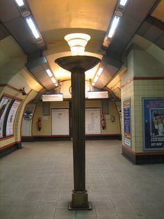 Uplighter, Bounds Green station. Charles Holden, 1932